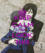 KEEP CALM AND LOOK THIS - Personalised Poster A4 size