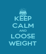 KEEP CALM AND LOOSE WEIGHT - Personalised Poster A4 size