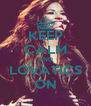 KEEP CALM AND LOVATICS ON - Personalised Poster A4 size