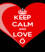 KEEP CALM AND LOVE Ő - Personalised Poster A4 size