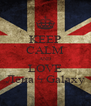 KEEP CALM AND LOVE Лена ϟ Galaxy - Personalised Poster A4 size