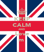 KEEP CALM AND Love ♥яαнmι̊ηα♡ - Personalised Poster A4 size