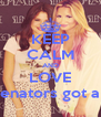 KEEP CALM AND LOVE ღ We are selenators got a problem ? ∞ - Personalised Poster A4 size