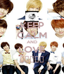 KEEP CALM AND LOVE 보이프렌드 - Personalised Poster A4 size