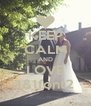 KEEP CALM AND LOVE 1&1font2 - Personalised Poster A4 size