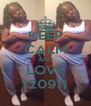 KEEP CALM AND LOVE 120911 - Personalised Poster A4 size