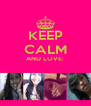 KEEP CALM AND LOVE:   - Personalised Poster A4 size