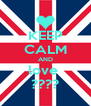 KEEP CALM AND love  ???? - Personalised Poster A4 size