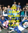 KEEP CALM AND LOVE 1AH1 - Personalised Poster A4 size