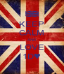 KEEP CALM AND LOVE 1D♥ - Personalised Poster A4 size