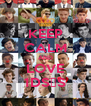 KEEP CALM AND LOVE 1D∞♡∞ - Personalised Poster A4 size
