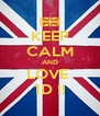 KEEP CALM AND LOVE  1D !! - Personalised Poster A4 size