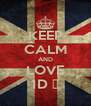 KEEP CALM AND LOVE 1D ♥ - Personalised Poster A4 size