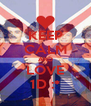 KEEP CALM AND LOVE 1D :* - Personalised Poster A4 size