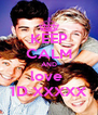 KEEP CALM AND love  1D XXXXX - Personalised Poster A4 size