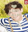 KEEP CALM AND Love 1D xxxxxx - Personalised Poster A4 size