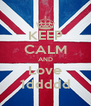 KEEP CALM AND Love 1ddddd - Personalised Poster A4 size