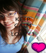 KEEP CALM AND LOVE<3  - Personalised Poster A4 size