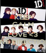 KEEP CALM AND LOVE <3 ONE DIRECTION  - Personalised Poster A4 size