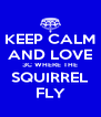KEEP CALM AND LOVE 3C WHERE THE SQUIRREL FLY - Personalised Poster A4 size
