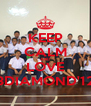 KEEP CALM AND LOVE 3DIAMOND'12 - Personalised Poster A4 size