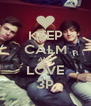 KEEP CALM AND LOVE 3P - Personalised Poster A4 size