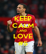 KEEP CALM AND LOVE #5 - Personalised Poster A4 size