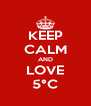KEEP CALM AND LOVE 5°C - Personalised Poster A4 size