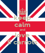 keep calm and love 5 carrots - Personalised Poster A4 size