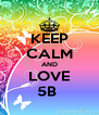 KEEP CALM AND LOVE 5B  - Personalised Poster A4 size