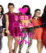 KEEP CALM AND LOVE 5TH - Personalised Poster A4 size