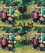 KEEP CALM AND LOVE 7 COUSINS - Personalised Poster A4 size