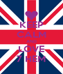 KEEP CALM AND LOVE 7 HEM - Personalised Poster A4 size