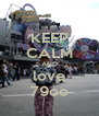KEEP CALM AND love 79oo - Personalised Poster A4 size