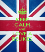 KEEP CALM AND LOVE A BEUKES - Personalised Poster A4 size