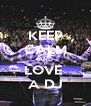 KEEP CALM AND LOVE  A DJ - Personalised Poster A4 size