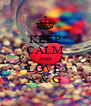KEEP CALM AND LOVE  A & G  - Personalised Poster A4 size
