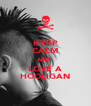 KEEP CALM AND  LOVE A HOOLIGAN - Personalised Poster A4 size