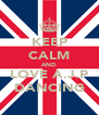 KEEP CALM AND LOVE A.J.P DANCING - Personalised Poster A4 size