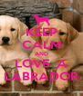 KEEP CALM AND LOVE  A LABRADOR - Personalised Poster A4 size