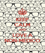 KEEP CALM AND LOVE A NON-MEDICO - Personalised Poster A4 size