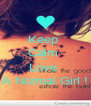 Keep  Calm  And  Love  A Normal Girl ! - Personalised Poster A4 size