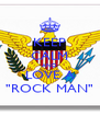 "KEEP CALM AND LOVE A ""ROCK MAN"" - Personalised Poster A4 size"