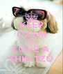 KEEP CALM AND LOVE A SHIH TZU - Personalised Poster A4 size