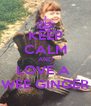 KEEP CALM AND LOVE A  WEE GINGER - Personalised Poster A4 size