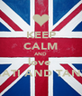 KEEP CALM AND love  AATI AND TANZ - Personalised Poster A4 size
