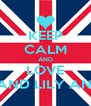 KEEP CALM AND LOVE ABBY AND LILY AND LISA - Personalised Poster A4 size