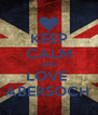 KEEP CALM AND LOVE  ABERSOCH  - Personalised Poster A4 size