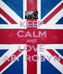KEEP CALM AND LOVE ABI  ROBYN - Personalised Poster A4 size