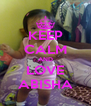 KEEP CALM AND LOVE ABISHA - Personalised Poster A4 size